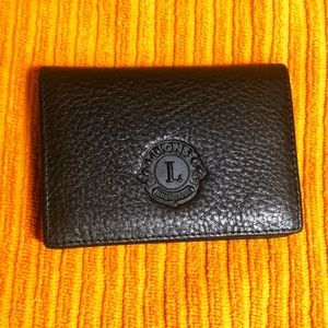 NWT Lions International men's leather wallet